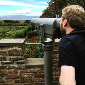 Telescope at the Gardens of Mey