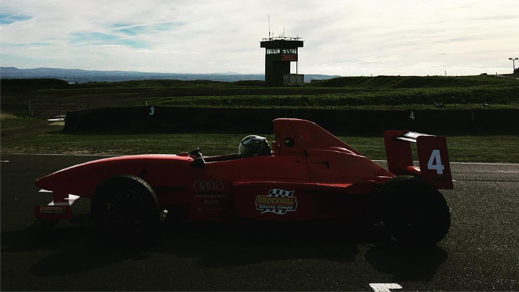 Me driving the Formula Ford car at Knockhill