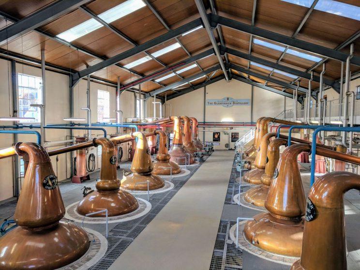 Stills at the Glenfiddich distillery