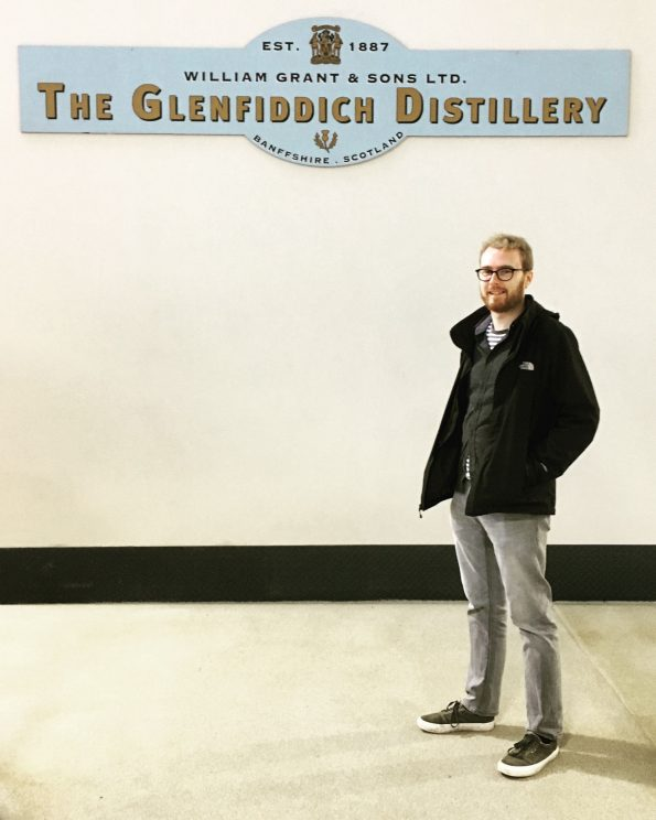 Me at the Glenfiddich distillery