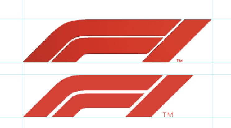 F1 logo inconsistencies