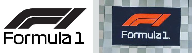 Inconsistent Formula 1 wordmarks