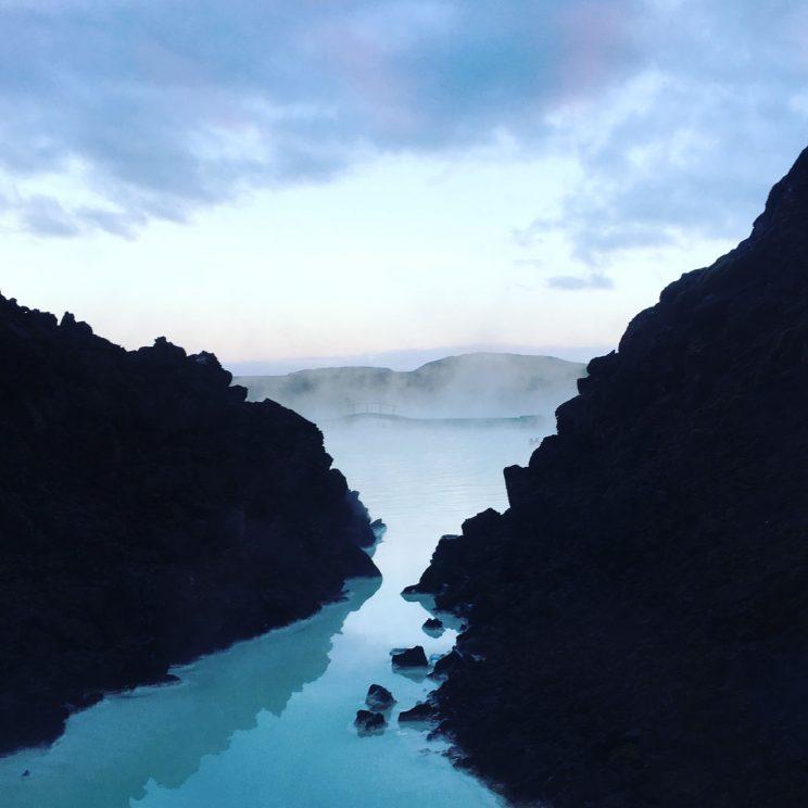 Blue Lagoon at dusk