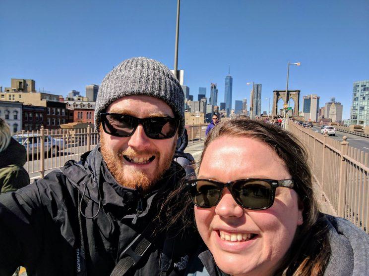 Me and Alex on Brooklyn Bridge