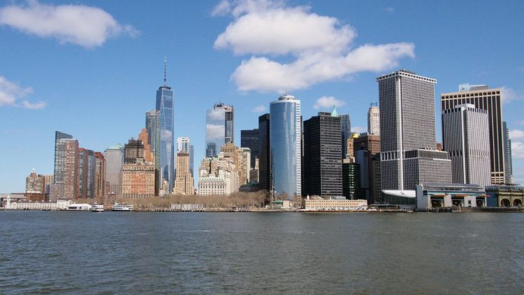 Stunning view of Manhattan from the Staten Island Ferry
