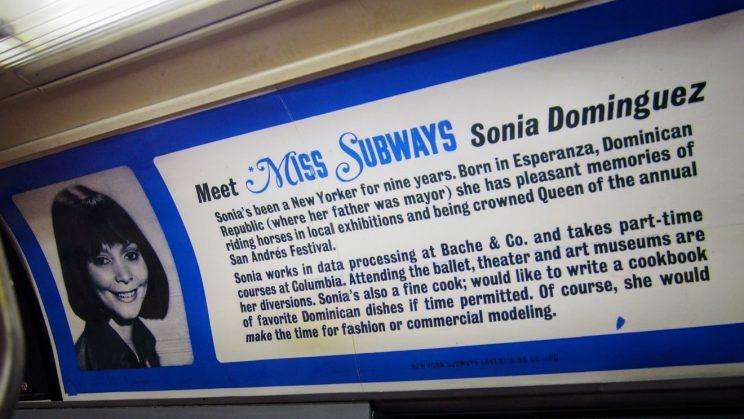 "Advert: ""Meet Miss Subways - Sonia Dominguez"""