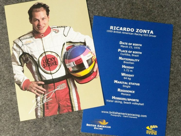 Postcards of BAR drivers
