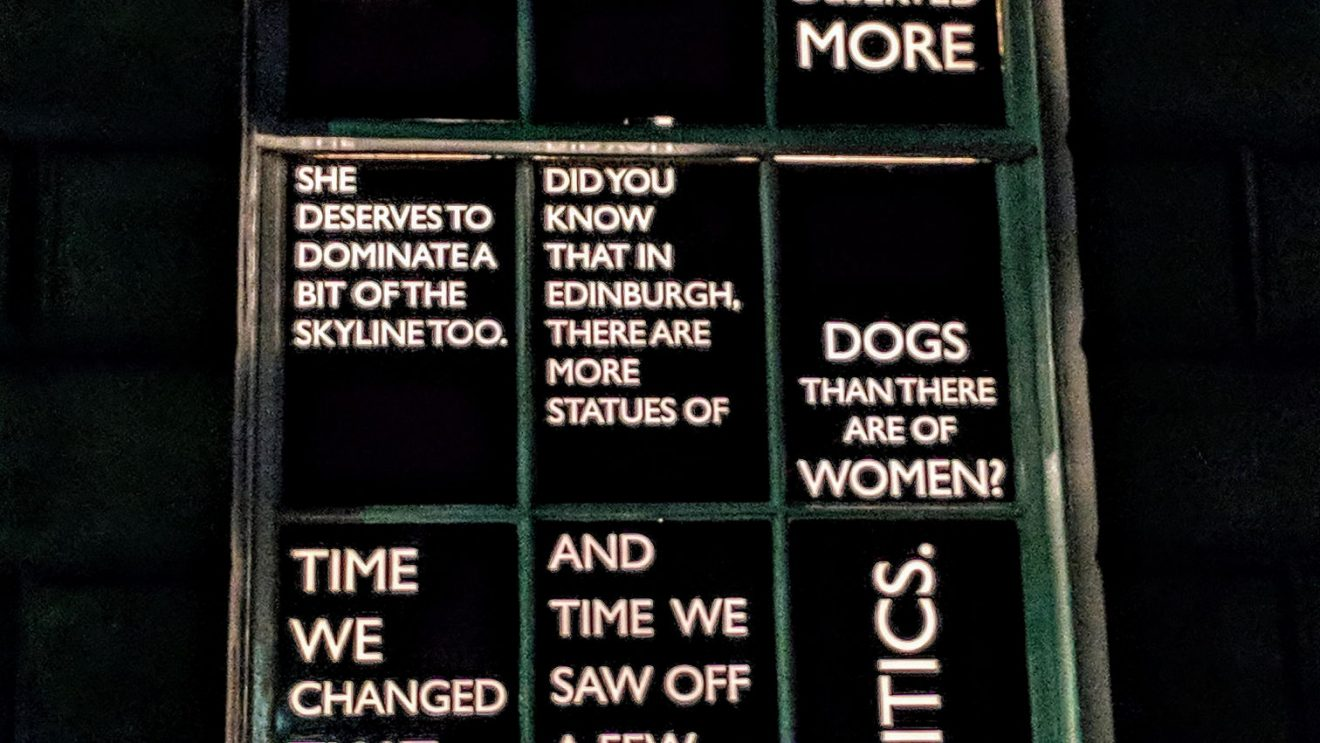 """""""Did you know that in Edinburgh, there are more statues of dogs than there are of women?"""""""