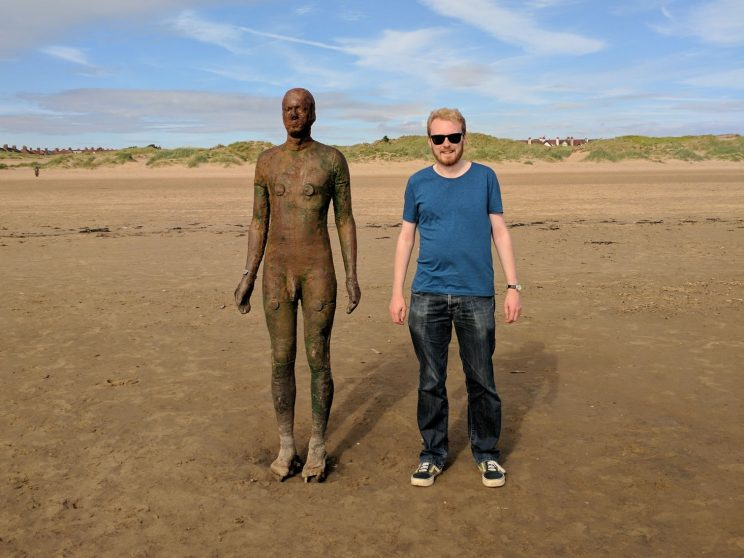 Me at Another Place by Antony Gormley