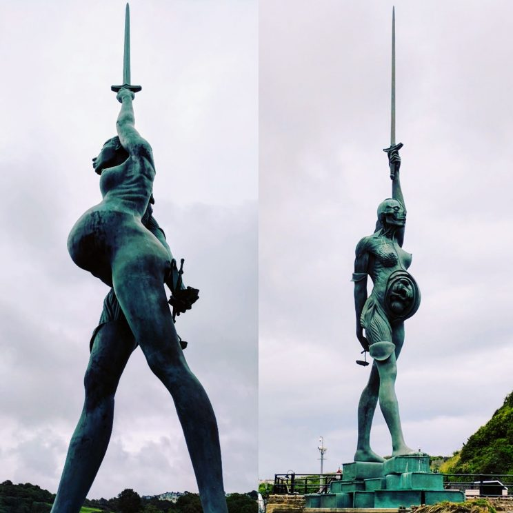 Verity by Damien Hirst, at Ilfracombe