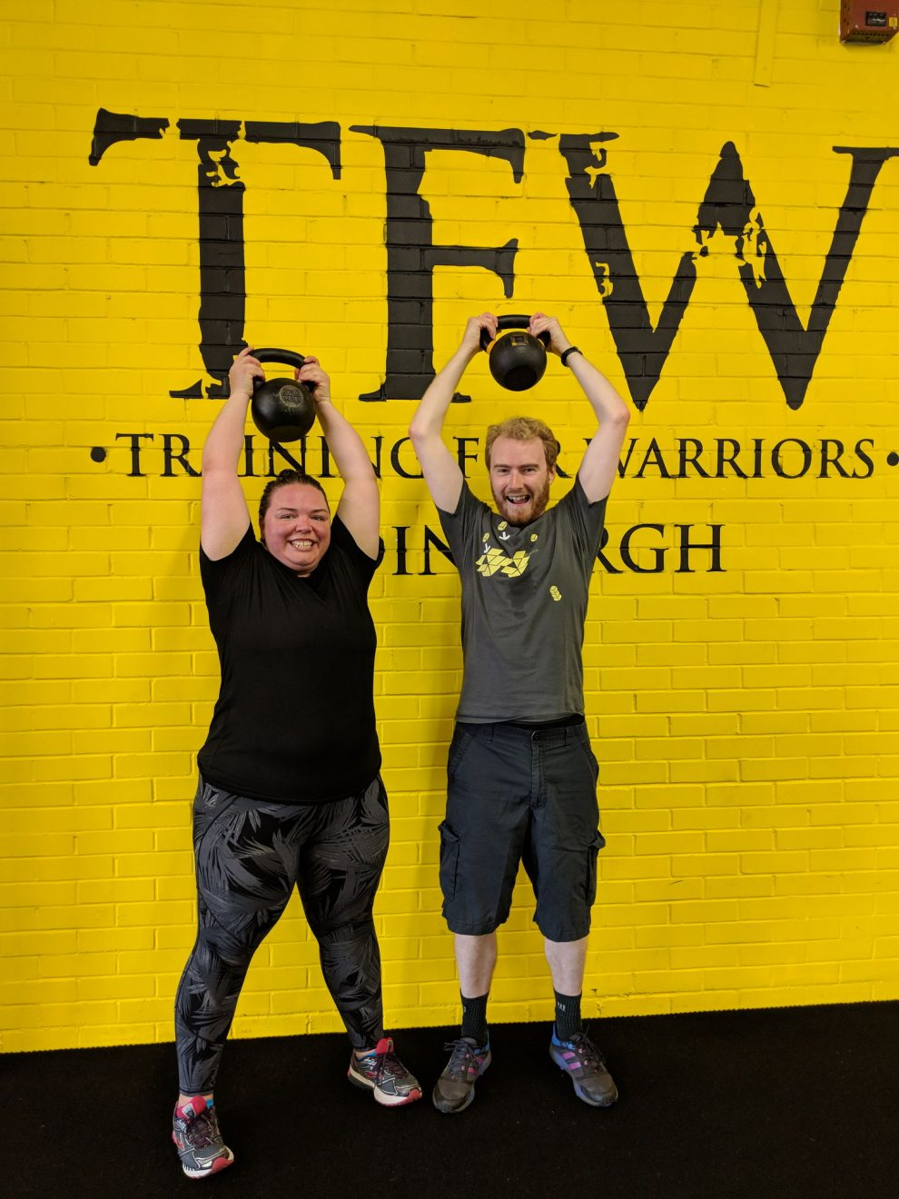 Alex and me after Training for Warriors