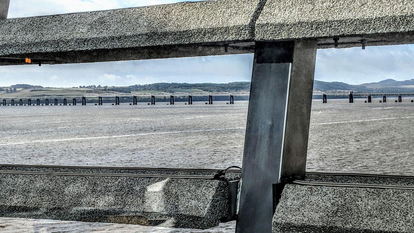 Tay Bridge seen through V&A Dundee