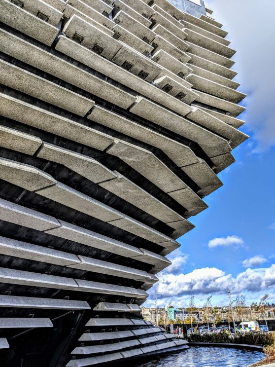 V&A Dundee exterior detail