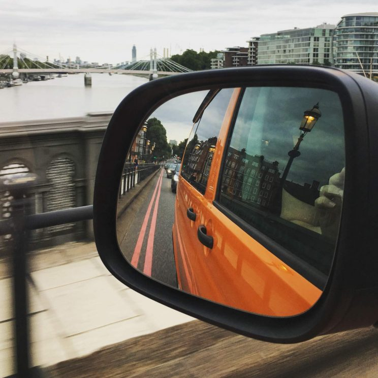 Driving the campervan in London
