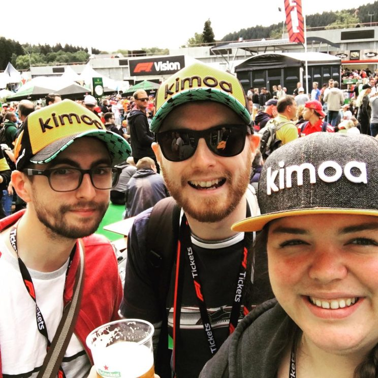 Gordon, me and Alex with our new Alonso Kimoa caps