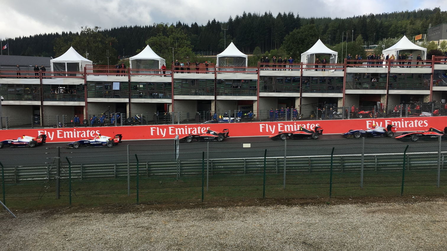 GP3 cars at the start of the race