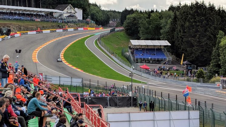 Mercedes heading up Eau Rouge