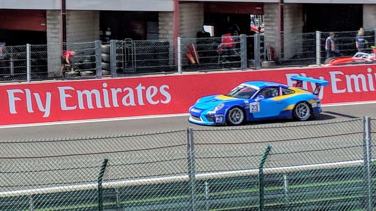 Porsche Supercup car driven by Larry ten Voorde