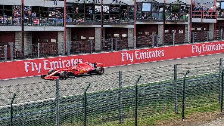Sebastian Vettel during the race