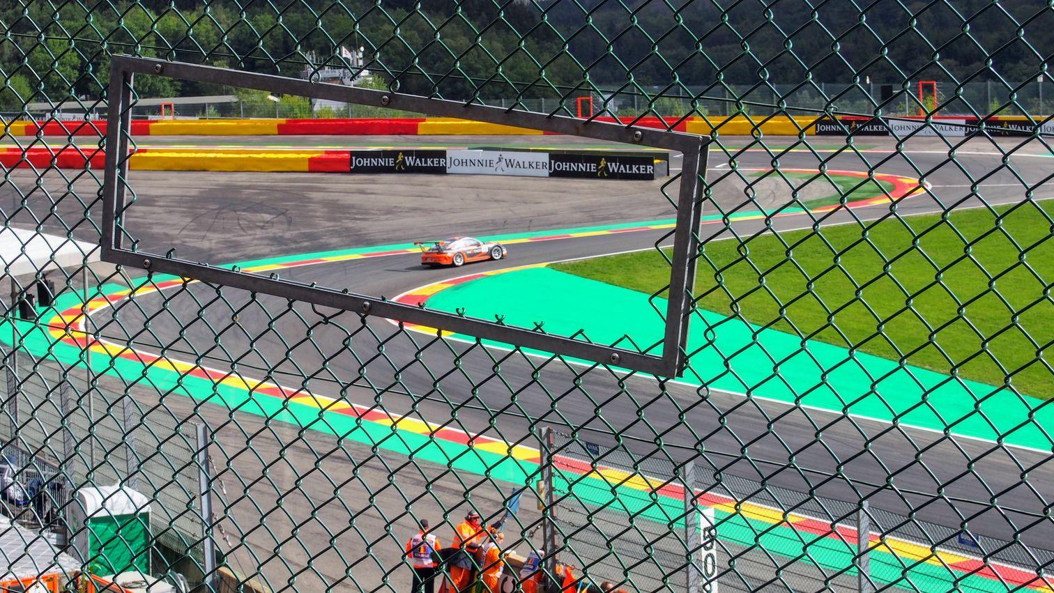 Porsche Supercup race at the Bus Stop chicane