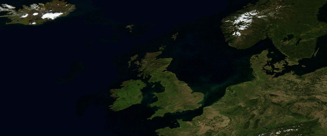 Scotland, Britain and Europe from space
