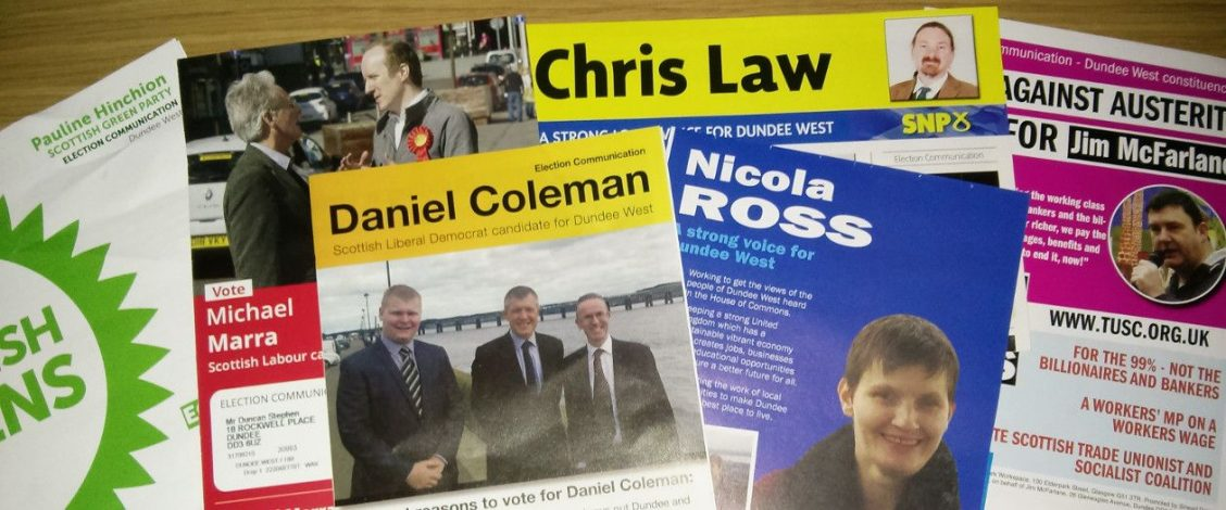Dundee West leaflets