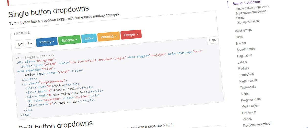 Bootstrap screenshot