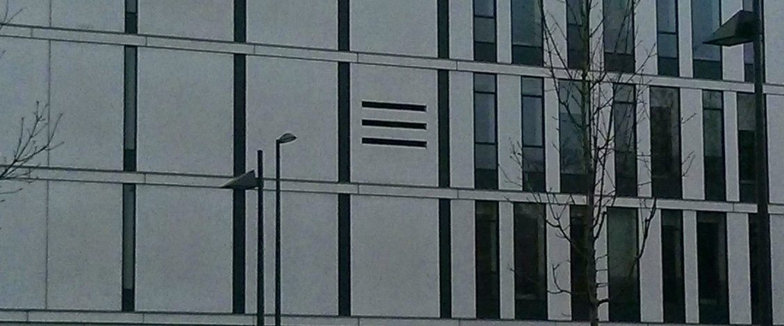 'Hamburger menu' in a building in Edinburgh