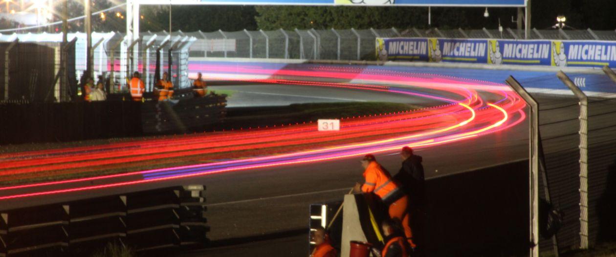 Light trails at Le Mans