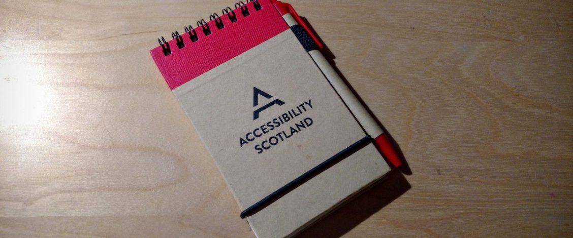 Accessibility Scotland notebook