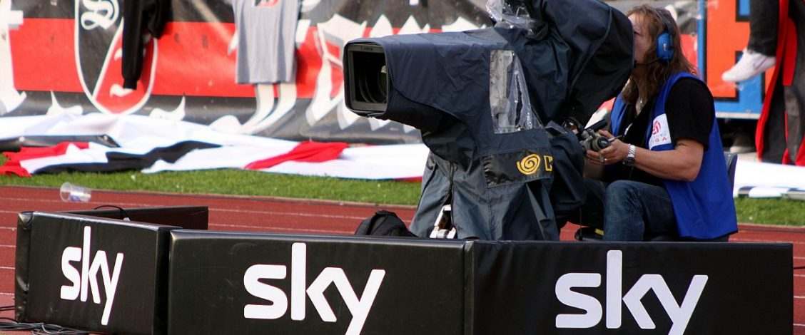 Sky TV camera at a sport event