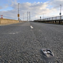 Deserted Forth Road Bridge