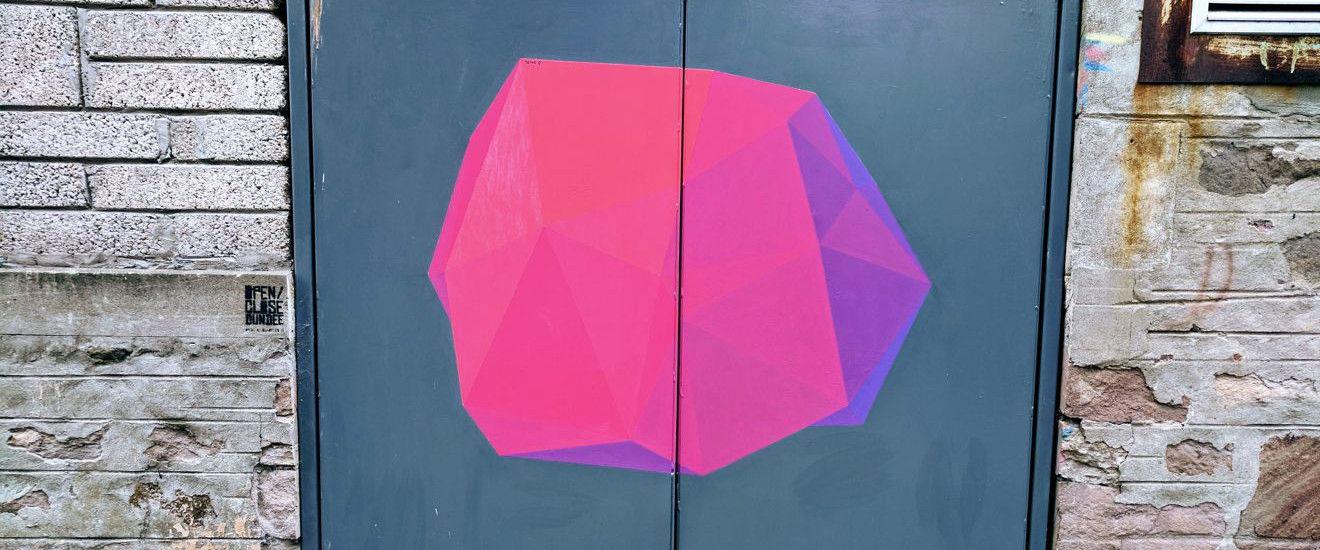 Artwork on Dundee's Open/Close street art trail