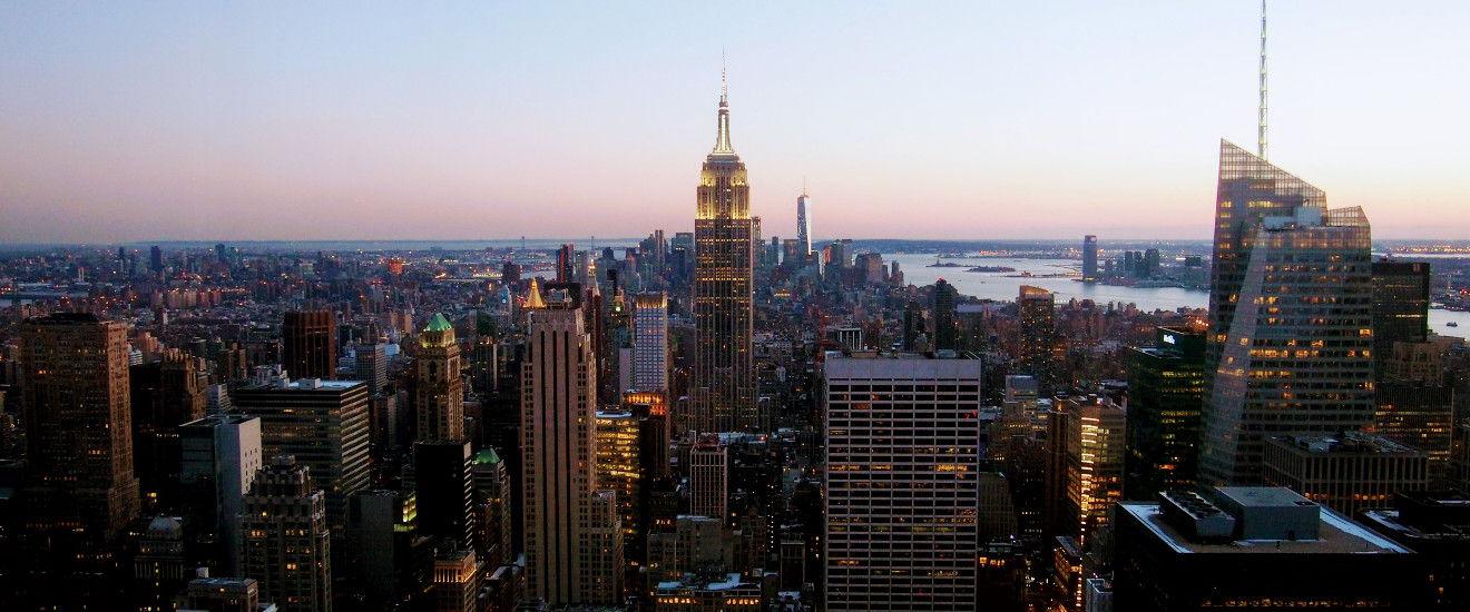 New York skyline from Rockefeller Center