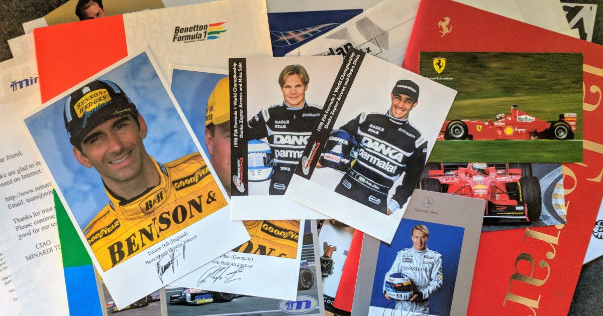The swag F1 teams sent me