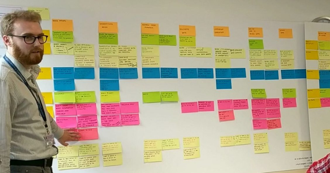 Presenting user research findings in an experience map at the University of Edinburgh