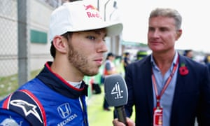 David Coulthard interviewing Pierre Gasly