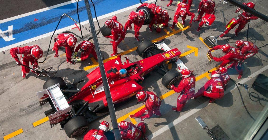 Ferrari pit stop