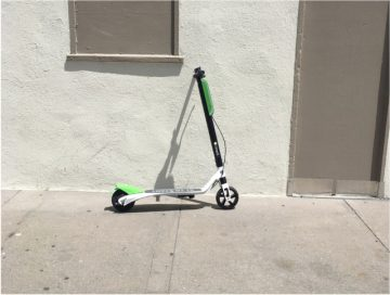 Electric scooter in San Francisco