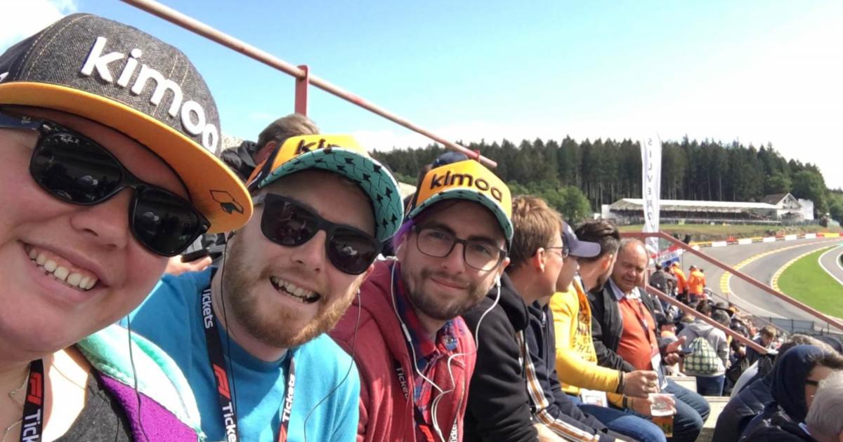Alex, me and Gordon watching qualifying