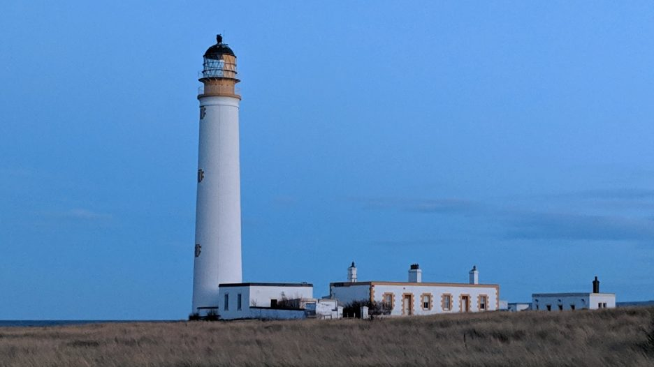 Barns Ness Lighthouse in the twilight