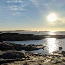Sun over the sea at Marstrand