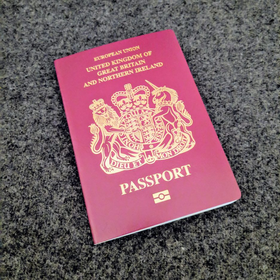 Burgundy European Union passport