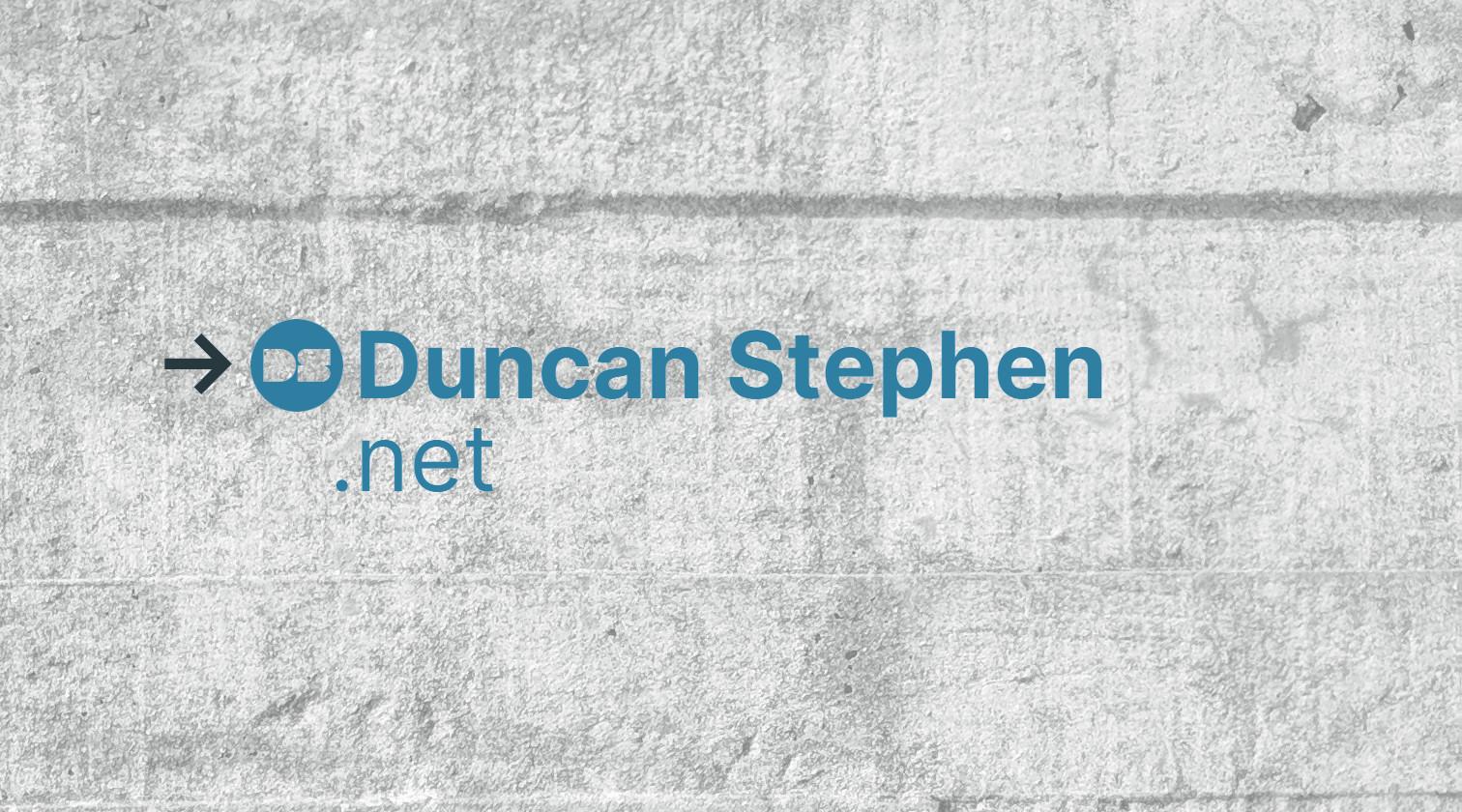 Duncan Stephen .net branding