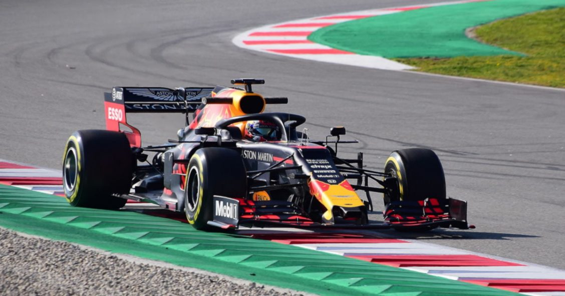Pierre Gasly's Honda-powered Red Bull Racing car