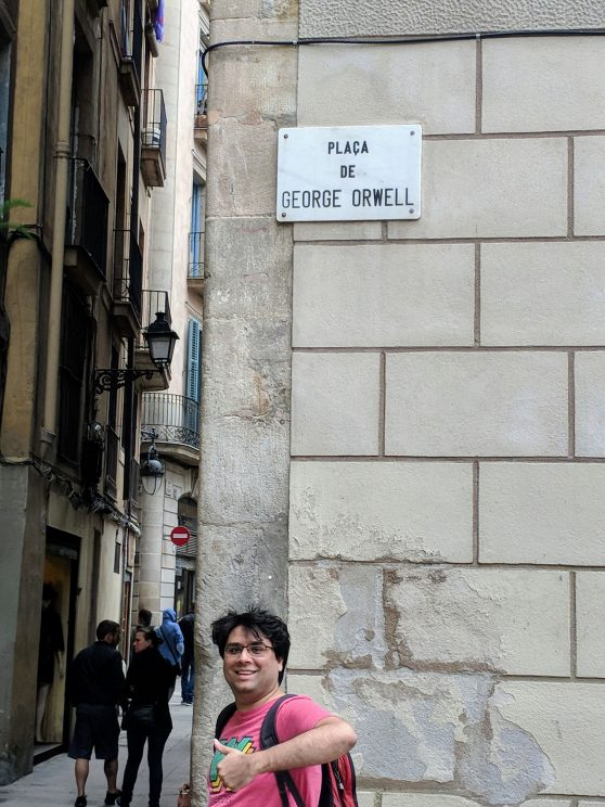 Jamie at Plaça de George Orwell