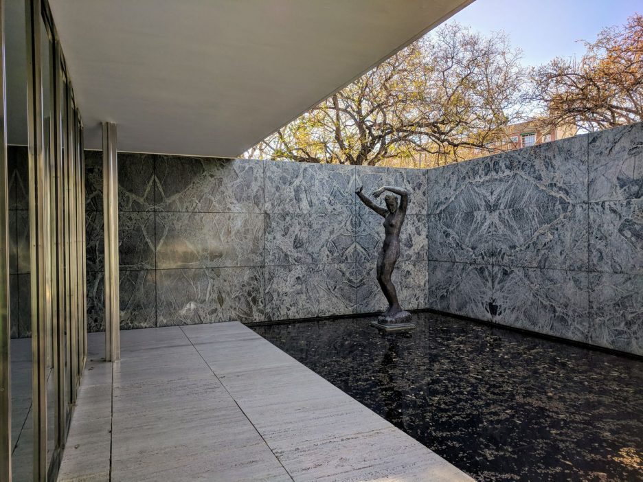 Statue in the Barcelona Pavilion