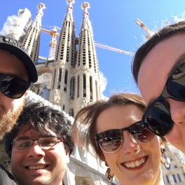 Selfie of all of us outside Sagrada Família