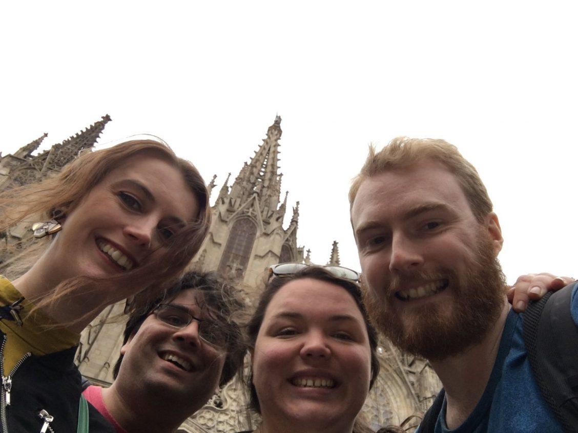 Selfie in front of Sagrada Família