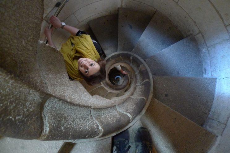 Staircase in Sagrada Família